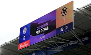 The moment that confirmed Wolves had not gone a goal up against Leicester on Sunday.