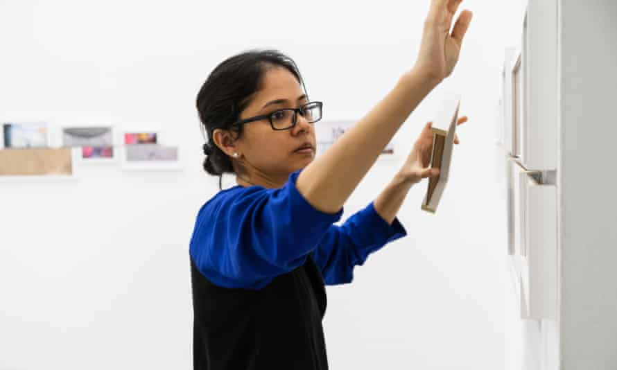 'It has stretched my brain a little' … Shilpa Gupta at work.