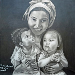 My Family, by Fateme Hossini, from Afghanistan