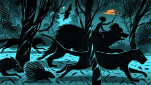 Illustrator Bill Bragg says: 'There's a wonderful darkness to Kipling's Jungle Book stories and I wanted to capture this atmosphere. Drawing this made me remember several months I spent in the Appalachian Mountains, USA: the forest would come alive at night with the sound of animals. Although The Jungle Book is set in India, I found out that Kipling actually wrote the stories while living close to the Green Mountain range of the Appalachians.'