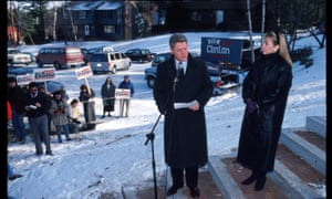 Bill and Hillary campaign in Nashua, New Hampshire in 1992.
