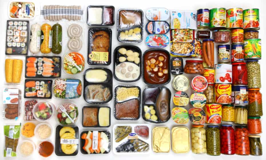 Selection of convenience food