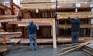 A Home Depot store in Pleasanton, California, U.S, as lumber prices soar