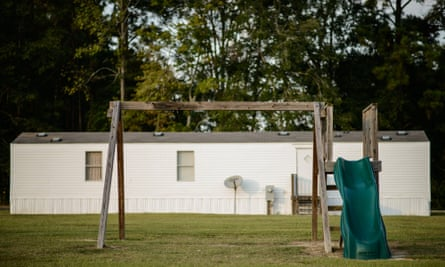 The swing set where Lennon Lacy was found hanging from in a trailer park in the rural town of Bladenboro.