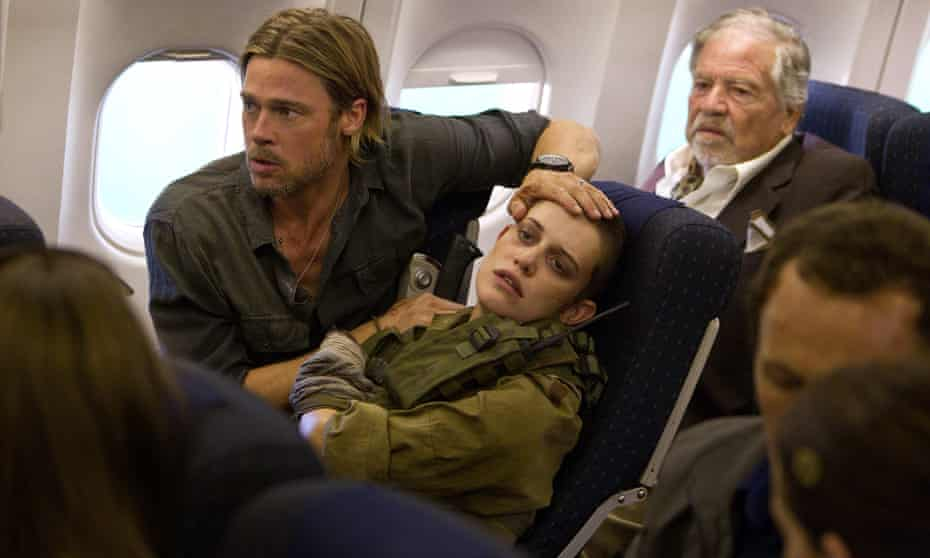 Brad Pitt, left, and Daniella Kertesz in the 2013 film adaptation of World War Z.