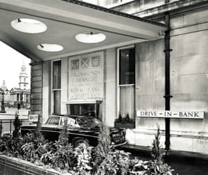 Drummonds bank was situated in London's Trafalgar Square, on the corner of the Mall and Whitehall. In 1961, they introduced the UK's first Drive-Thru Bank, drive-through bank