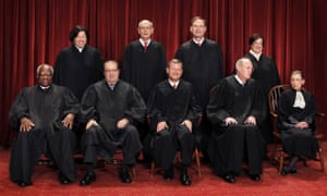The Supreme Court justices pose for a group photo