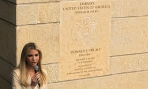 Donald Trump's daughter and advisor, Ivanka, speaks during the opening ceremony of the new US embassy in Jerusalem