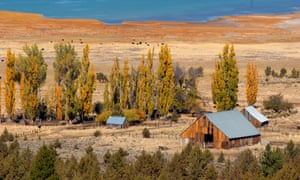 Old barns at Eagle Lake, in northern California. Eagle Lake has fallen 15ft since 1999, a fall thought to be exacerbated by climate change.