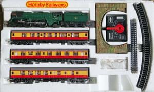 A Hornby model train set