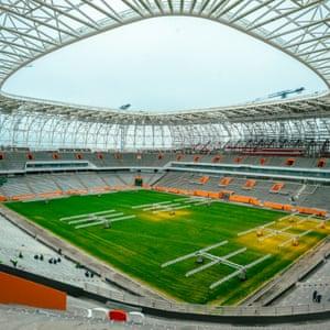 An interior view of Mordovia Arena.