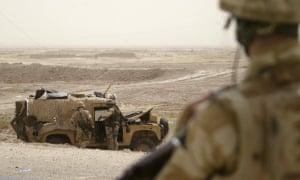 British soldiers on patrol in Basra, Iraq in 2006.