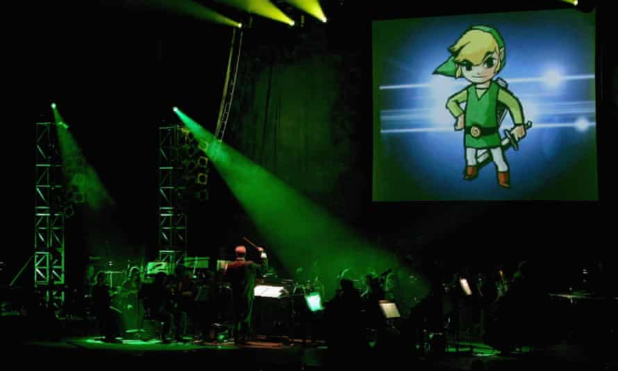 Music from the video game Zelda is performed during 'Video Games Live' by the English National Ballet Orchestra and the Apollo Voice Choir at the Hammersmith Apollo