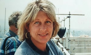 Julia Cave at work in Greece in 1989. In a long career she worked on programmes including The Great War and Sky at Night, and made many arts and archaeology films