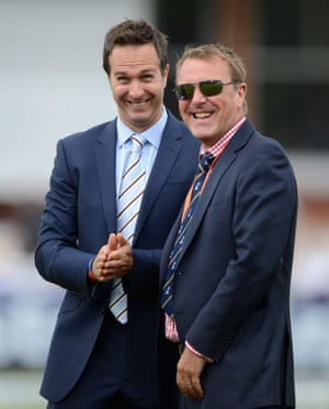 'Weirdly absorbing' Michael Vaughan, left, and Phil Tufnell, 'chuntering on' for 5 Live.
