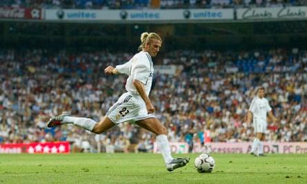David Beckham crossing