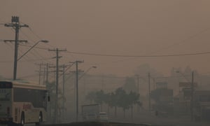 Taree, on the mid-north coast of NSW, is blanketed in smoke for yet another day on Thursday.