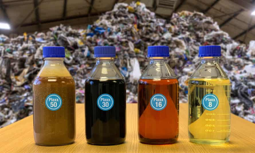 At Recycling Technologies in Swindon, nearly all plastics can be turned into plaxx, an oil that can be used to make new plastic.