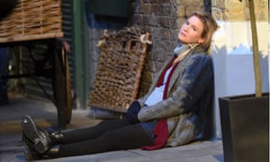 Renee Zellweger on the set of Bridget Jones's Baby.