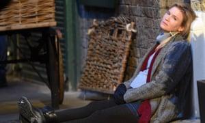 Renée Zellweger on the set of Bridget Jones's Baby.