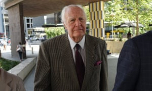 The former governor general Peter Hollingworth arrives at the magistrates court in Brisbane on Friday to give evidence to the royal commission.