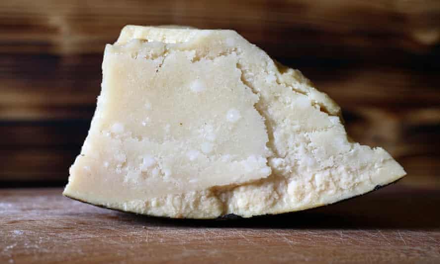 Real cheese: parmiagano.
