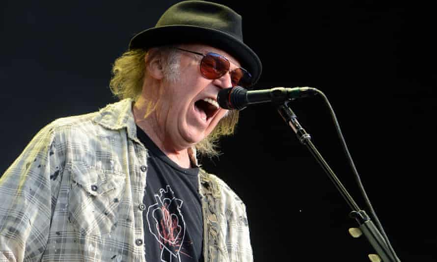 Neil Young performs at Hyde Park, London, 12 July 2019.