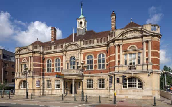 The main entrance of Battersea Arts Centre in south London.