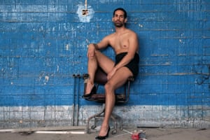 Khalid, who runs the only LGBT magazine in Jordan, photographed in a old Renault garage for Coten's Mectoub series.