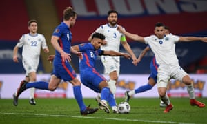 Ollie Watkins fires home England's fifth.