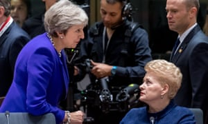 Theresa May with Dalia Grybauskaite (right)