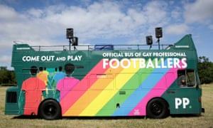 The empty open-topped bus that will be on display at Brighton Pride this weekend