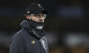 Jurgen Klopp of Liverpool in his 'gaiter'.