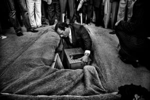 The funeral of Horacio Bau. The body was returned to his family by forensic anthropologists 30 years after his disappearance