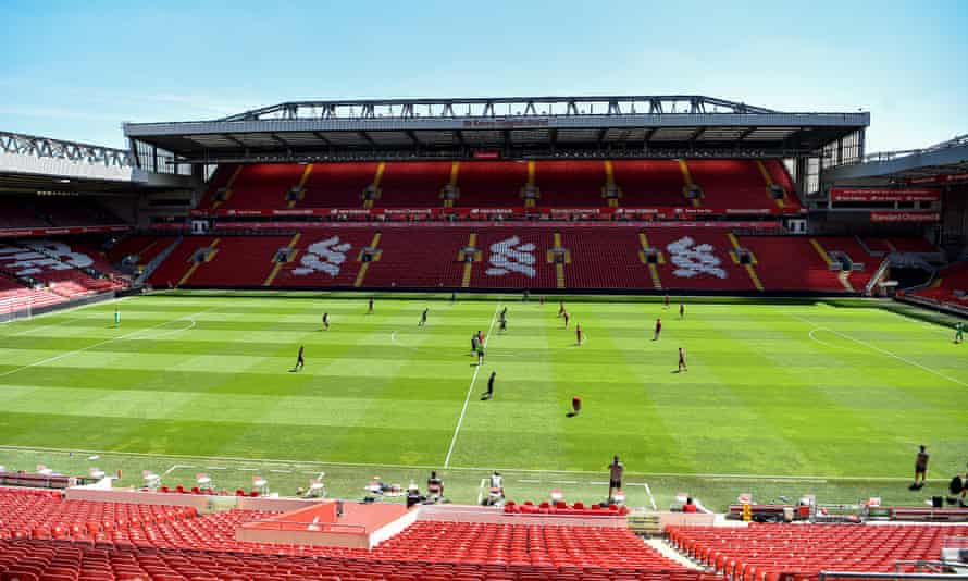 Liverpool training at Anfield this week.