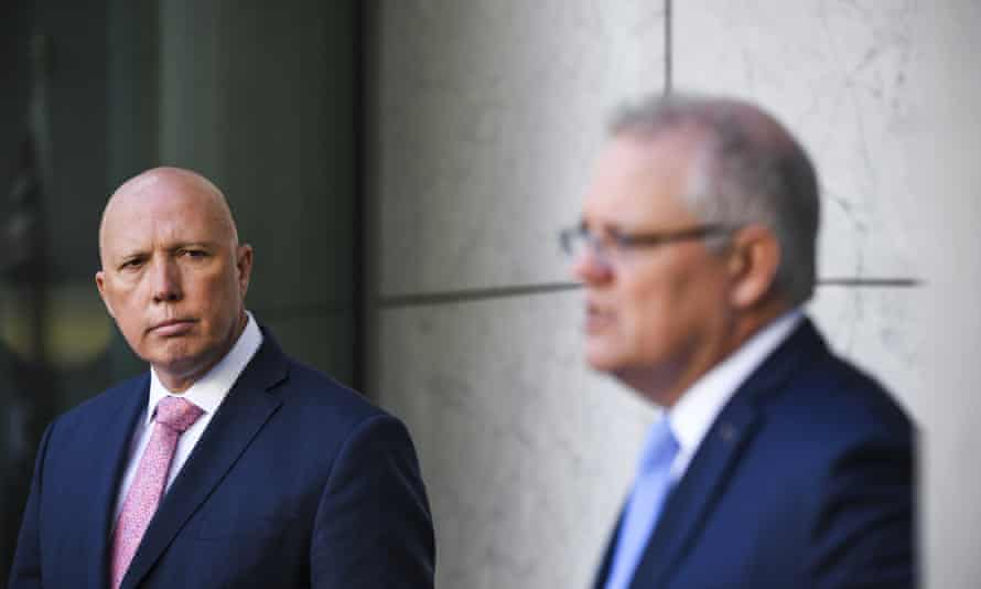 Defence minister Peter Dutton and prime minister Scott Morrison