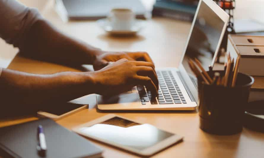 The ergonomics of using a laptop for prolonged use are normally much worse than a desktop with separate keyboard, mouse and monitor.