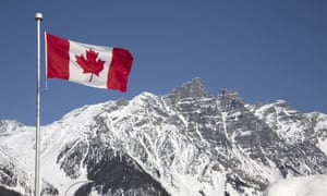 """""""Canada flag in mountains"""""""