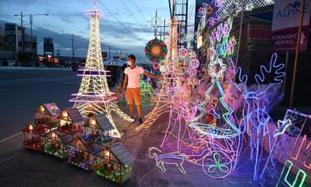 Lanterns and ornaments for sale during the festive season at a shop in San Fernando in the Philippines