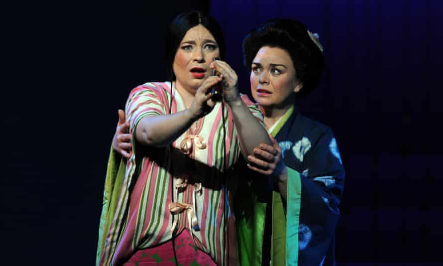 Romaniw as Cio-Cio San and Stephanie Windsor as Suzuki in ENO's Madama Butterfly at the London Coliseum, February 2020.