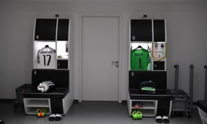 The dressing room at Juventus Stadium.