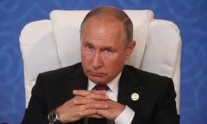 'An unscrupulous and resourceful operator' … Vladimir Putin.