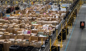 An Amazon warehouse in Peterborough.