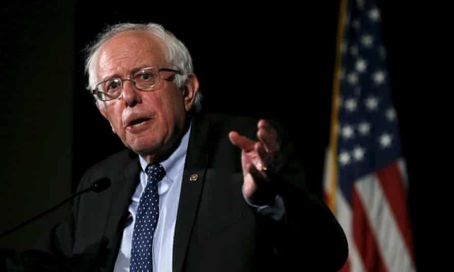 US Democratic presidential candidate Bernie Sanders