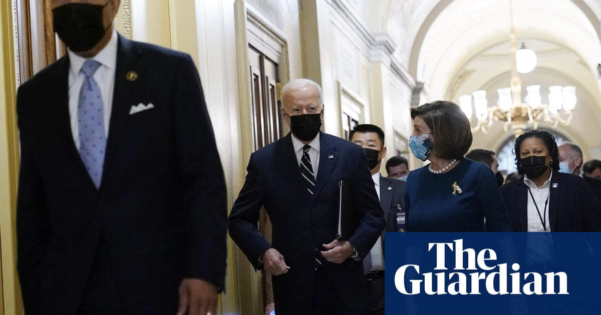Biden pitches $1.75tn scaled-down policy agenda to House Democrats