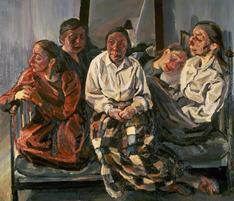 Family Group, a painting by Celia Paul, 1984-86