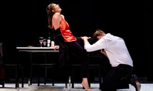 Intent on wreaking destruction ... Cheryl Enever as Juliana (with Samuel Pantcheff as Juan) in Joseph Phibb's chamber opera premiered at the Cheltenham festival.