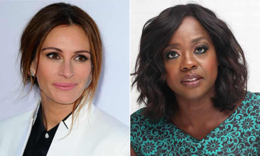 Julia Roberts and Viola Davis, who previously starred together in Eat Pray Love.