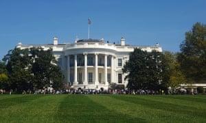The White House lawn in Washington DC.