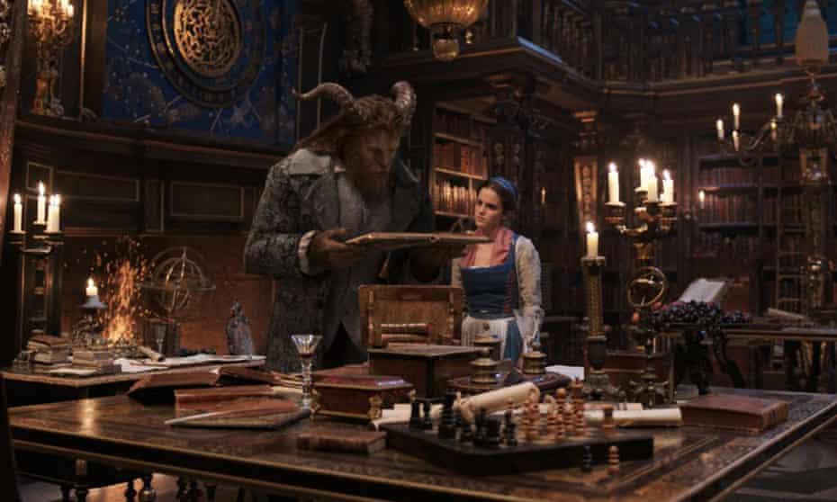 Machine-tooled for sweetness … Emma Watson as Belle with Dan Stevens' Beast.